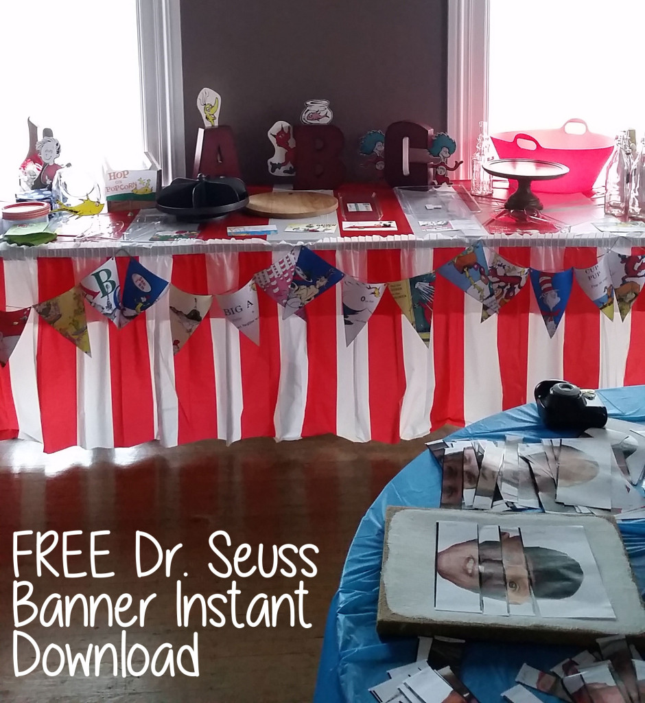 Dr. Seuss Pages from Books Free Banner & Instant Download