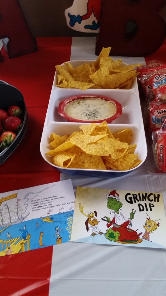 Grinch Dip & Skipper Zip's Chips