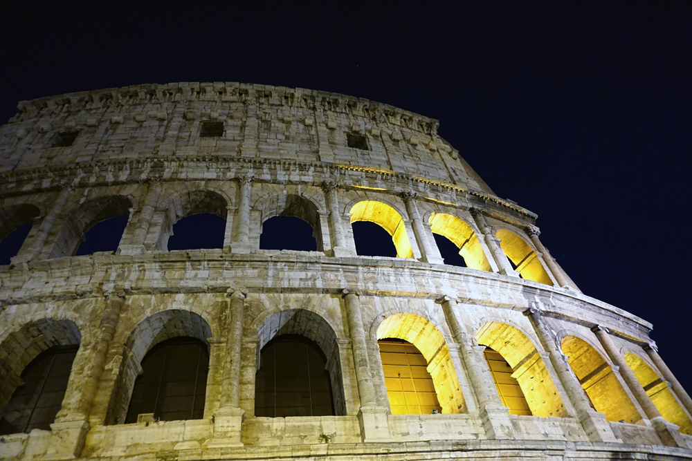 Colosseum At Nightime