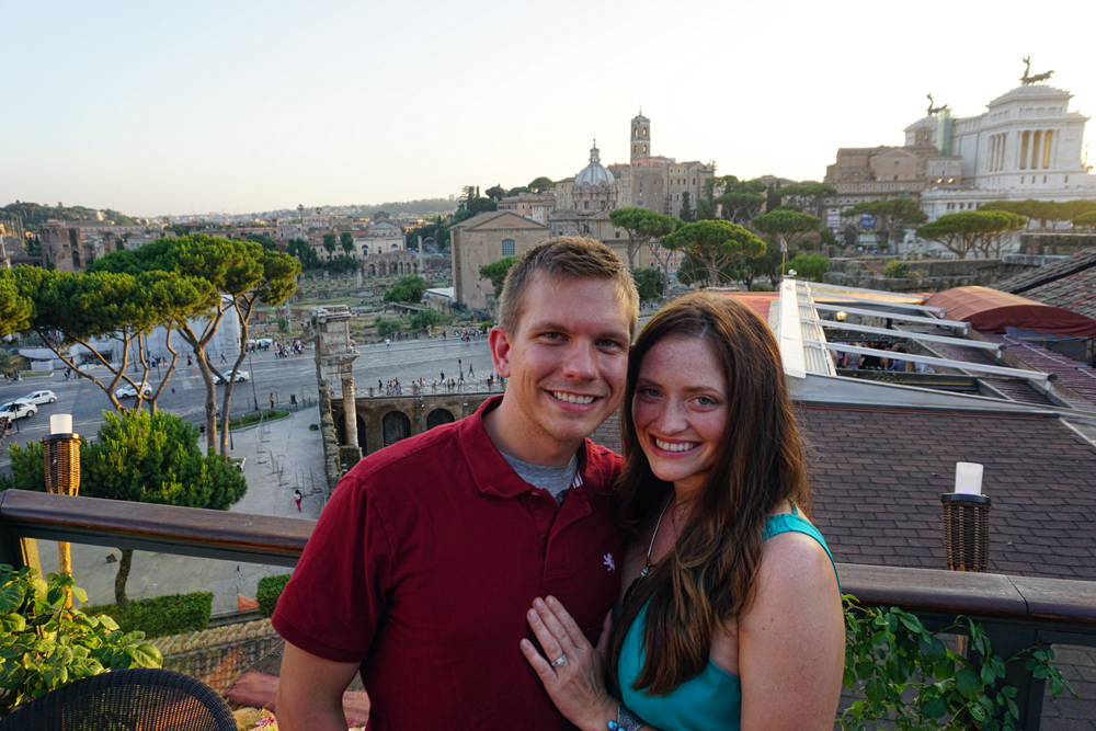 Rooftop dinner in Rome