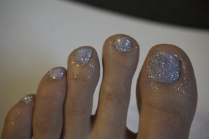 Poly Flake Glitter Summer Nails