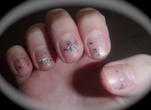 Glitter Nail Polish Fail
