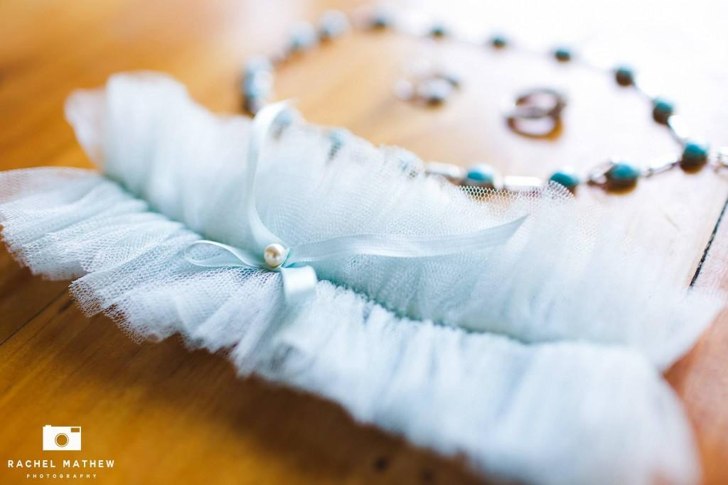 Silk Light Blue Garter
