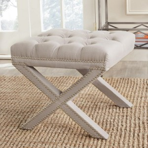 Safavieh Nailhead Tufted ''X'' Bench