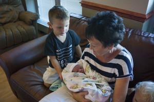 Nana holding Reed