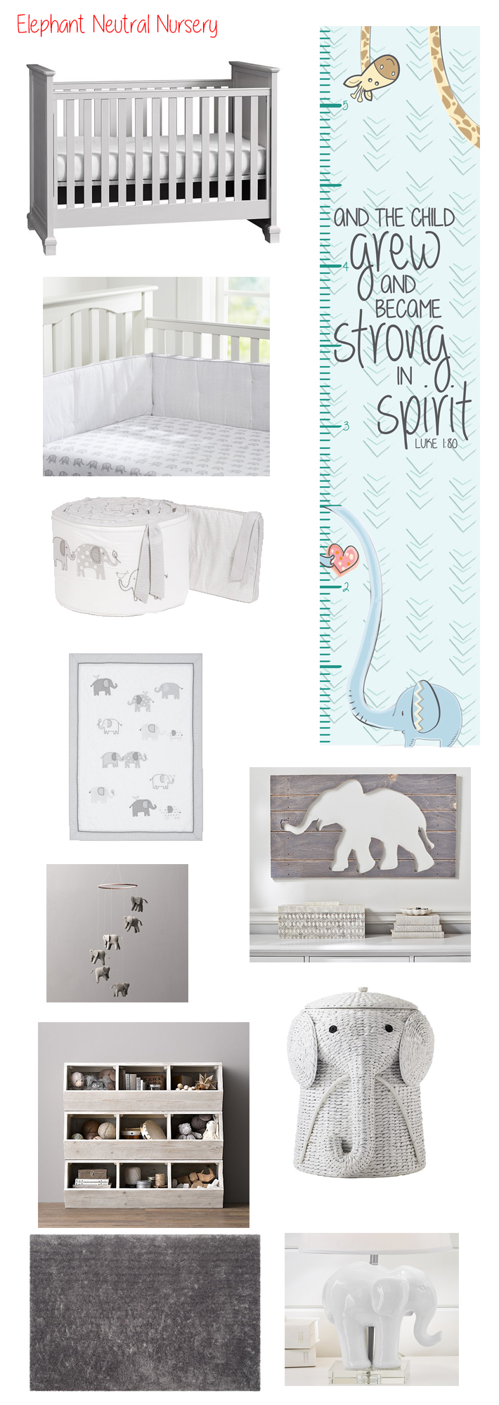 Gender Neutral Elephant Nursery Ideas