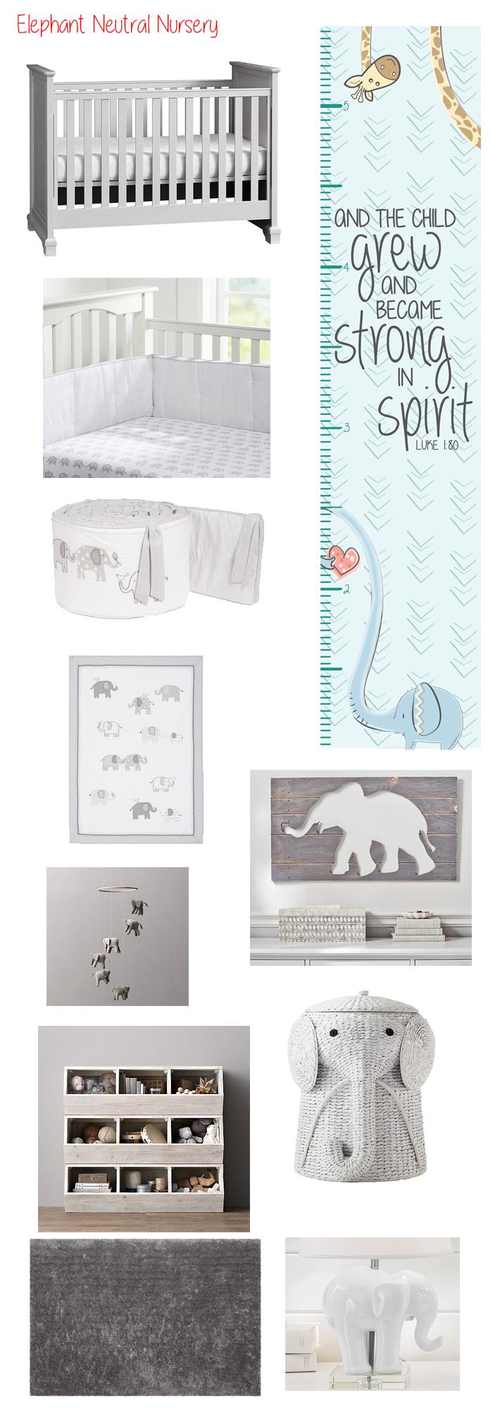 Gender Neutral Elephant Nursery Ideas