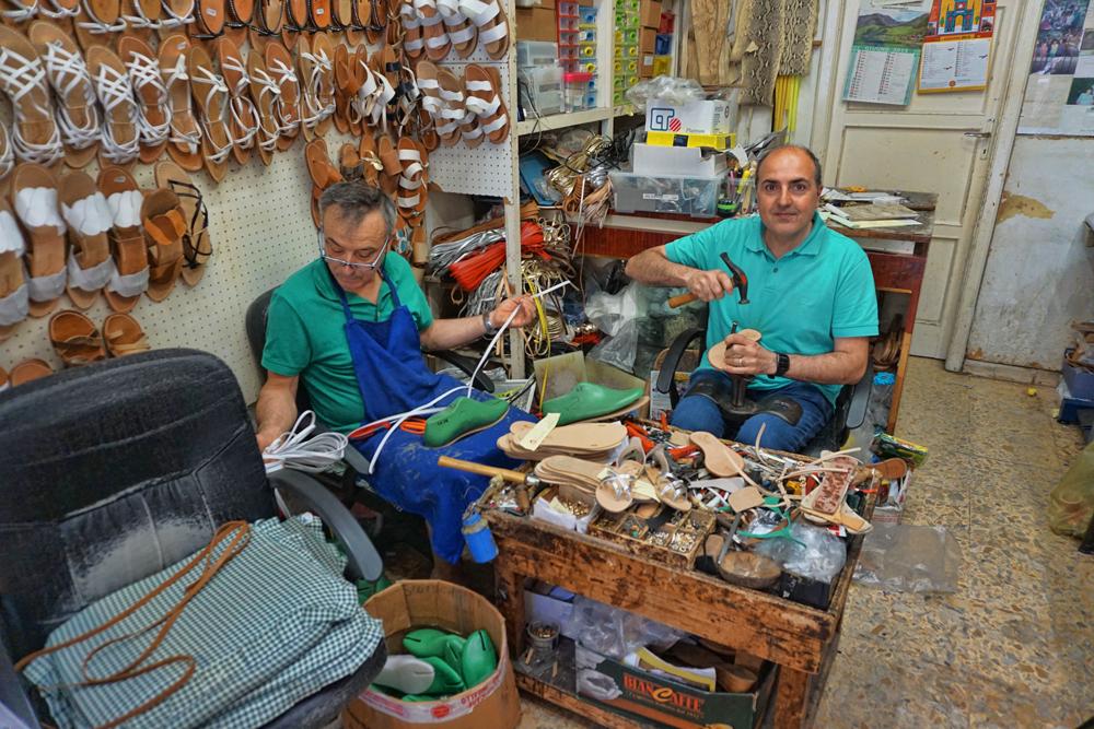 Handmade Siniscalchi Sandals from Sorrento