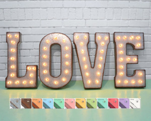 Love Metal Marquee Sign Light