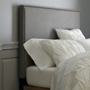 Tall Nailhead Upholstered Headboard
