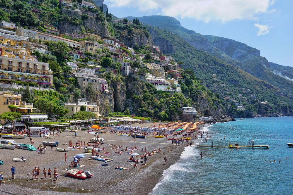 Positano Beach in Italy