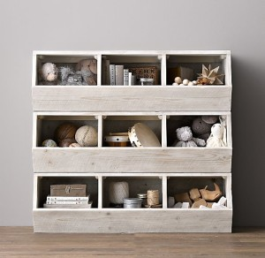 Restoration Hardware Stacking Toy Bin