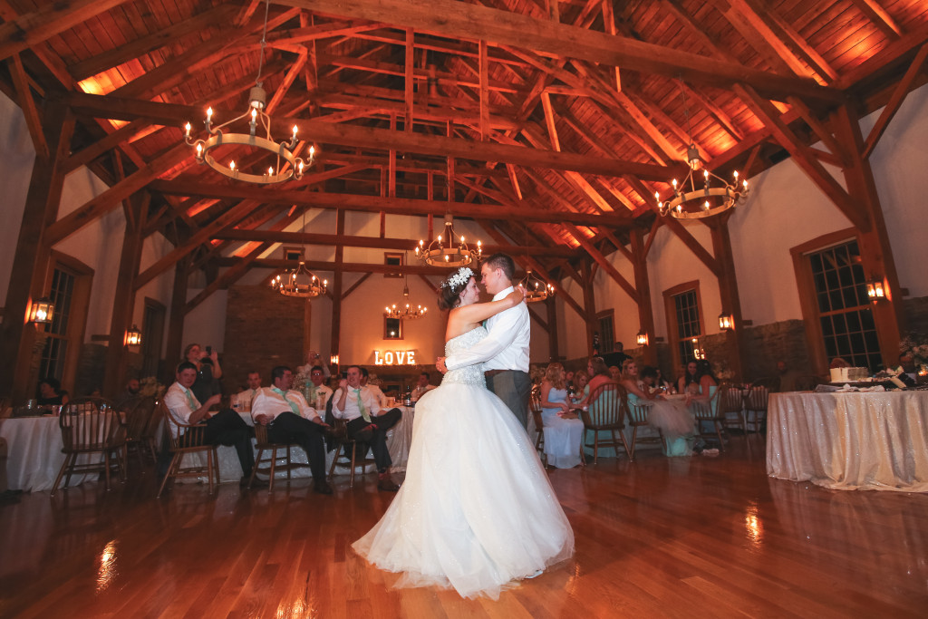 Wedding Reception at The Granary in New Harmony, IN