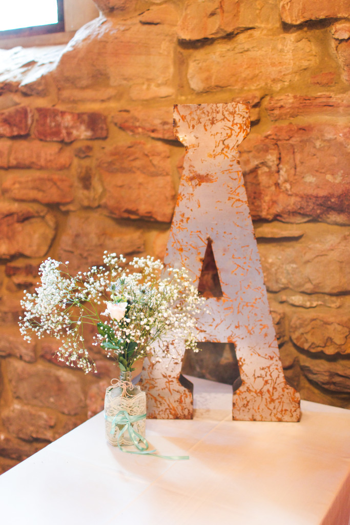 Rustic letter A sign