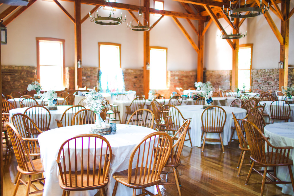 The Wedding reception at the Granary in New Harmony, IN