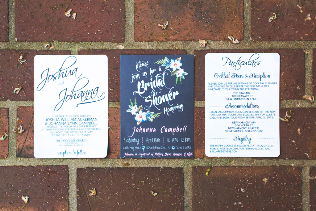 Wedding Invitation and Bridal Shower invitation
