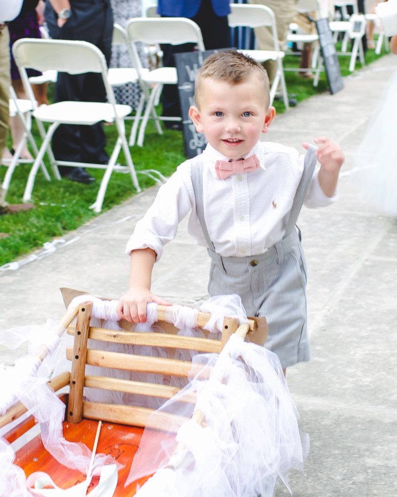Ring Bearer grey and pink outfit
