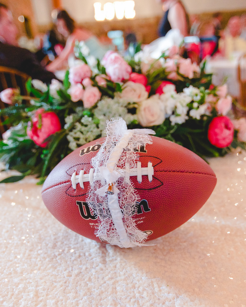 Put the garter around a football for the groom to toss