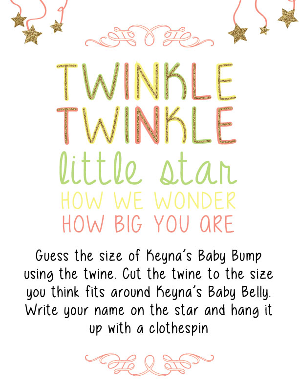 Twinkle Twinkle Littler Star How We Wonder How Big You Are
