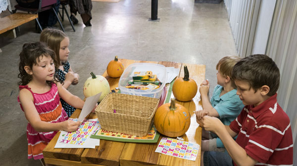 A Way to entertain the kids- let them decorate a pumpkin