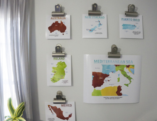 Travel Map decorating ideas