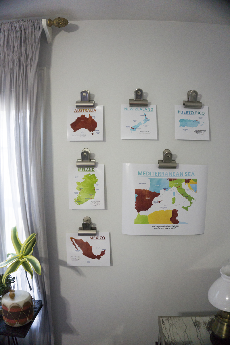 Decorating With Travel Maps - If I Ran The Party