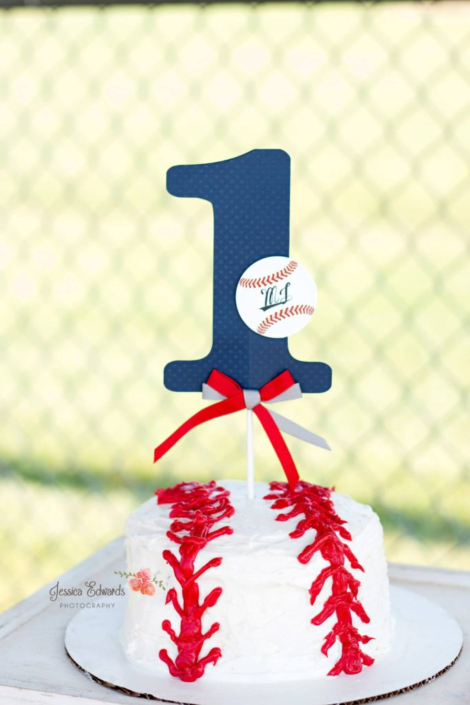 1st Birthday Baseball Cake