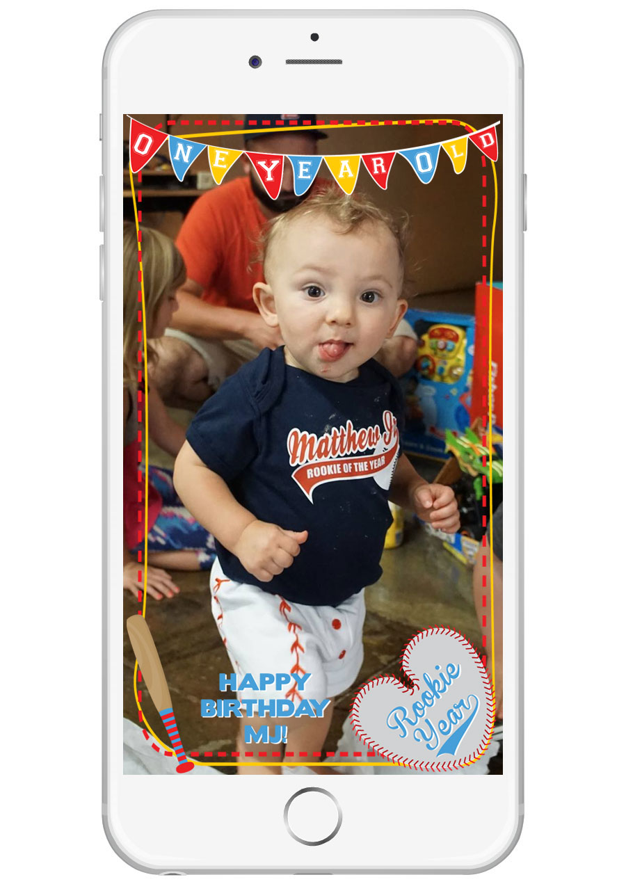 Baseball Themed Birthday Snapchat GeoFilter