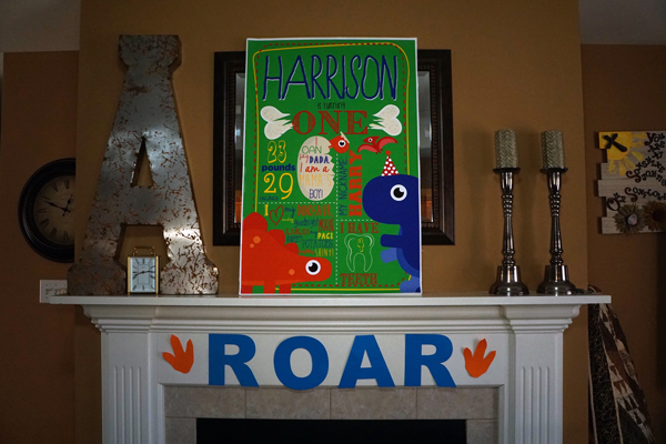 ROAR Dinosaur 1st birthday Party