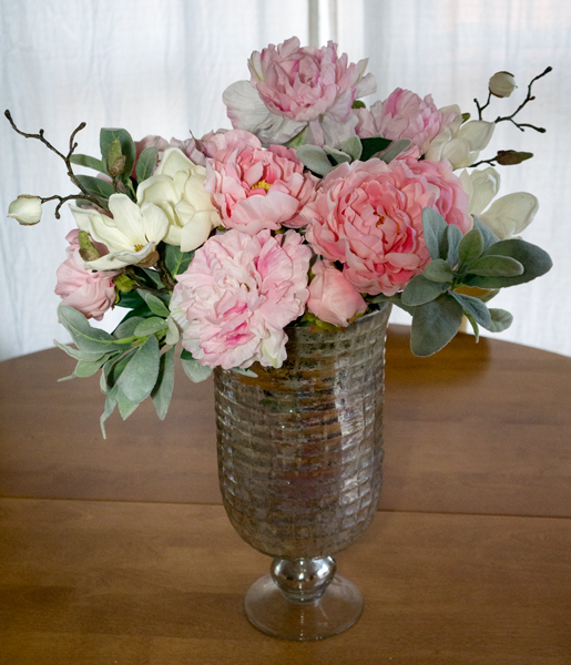 Spring Peony and Magnolia Arrangement