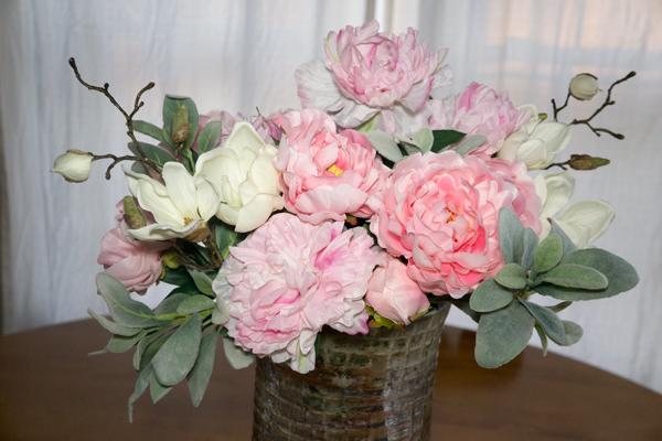 Spring Peony and Magnolia Arrangement